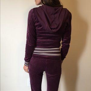 Victoria's Secret Purple Velour Tracksuit